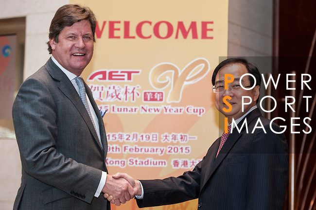 Presentation of the AET Lunar New Year Cup 2015 during the AET Lunar New Year Cup 2015 press conference at the Harbour Grand Hong Kong on 19th January 2015 in Hong Kong, China. Photo by Xaume Olleros / Power Sport Images