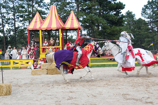 Assignment photography, knights jousting at the Renaissance Festival, Larkspur, Colorado, USA. .  John offers private photo tours in Denver, Boulder and throughout Colorado. Year-round.