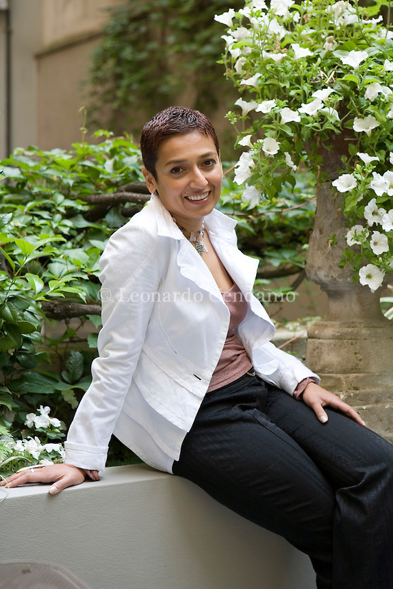 Milan, Italy, 2006. Zainab Salbi, Iraqi American writer. She is co-founder and president of Women for Women International, humanitarian association helping women survivors of war reconstructing their life.