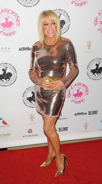 Suzanne Somers arriving at The 2016 Carousel Of Hope Ball held at the Beverly Hilton Hotel Beverly Hills California October 8, 2016.