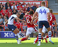 Preston North End's Billy Bodin scores the opening goal <br /> <br /> Photographer David Shipman/CameraSport<br /> <br /> The EFL Sky Bet Championship - Nottingham Forest v Preston North End - Saturday 31st August 2019 - The City Ground - Nottingham<br /> <br /> World Copyright © 2019 CameraSport. All rights reserved. 43 Linden Ave. Countesthorpe. Leicester. England. LE8 5PG - Tel: +44 (0) 116 277 4147 - admin@camerasport.com - www.camerasport.com