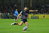 8th September 2017, The Mend-A-Hose Jungle, Castleford, England; Betfred Super League, Super 8s; Castleford Tigers versus Leeds Rhinos; Luke Gale of Castleford Tigers  kicks another conversion