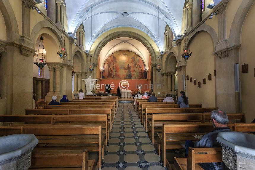 France, Saône-et-Loire (71), Paray-le-Monial,  chapelle des Apparitions ou chapelle de la Visitation // France, Saone et Loire, Paray le Monial, Apparitions chapel or Visitation chapel