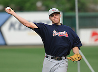 May 8, 2008: Freddie Freeman of the Rome Braves, Class A affiliate of the Atlanta Braves, prior to a game against the Greenville Drive at Fluor Field at the West End in Greenville, S.C. Photo by:  Tom Priddy/Four Seam Images