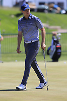 Jordan Spieth (USA) on the practice green during Friday's Round 2 of the 117th U.S. Open Championship 2017 held at Erin Hills, Erin, Wisconsin, USA. 16th June 2017.<br /> Picture: Eoin Clarke | Golffile<br /> <br /> <br /> All photos usage must carry mandatory copyright credit (&copy; Golffile | Eoin Clarke)