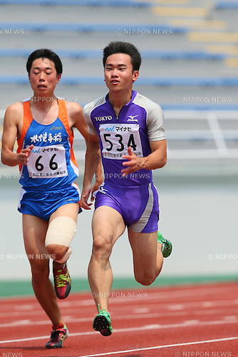 Kenta Oshima, JULY 30, 2015 - Athletics : 2015 All-Japan Inter High School Championships, Men's 100m at Kimiidera Athletic Stadium, Wakayama, Japan. (Photo by YUTAKA/AFLO SPORT)