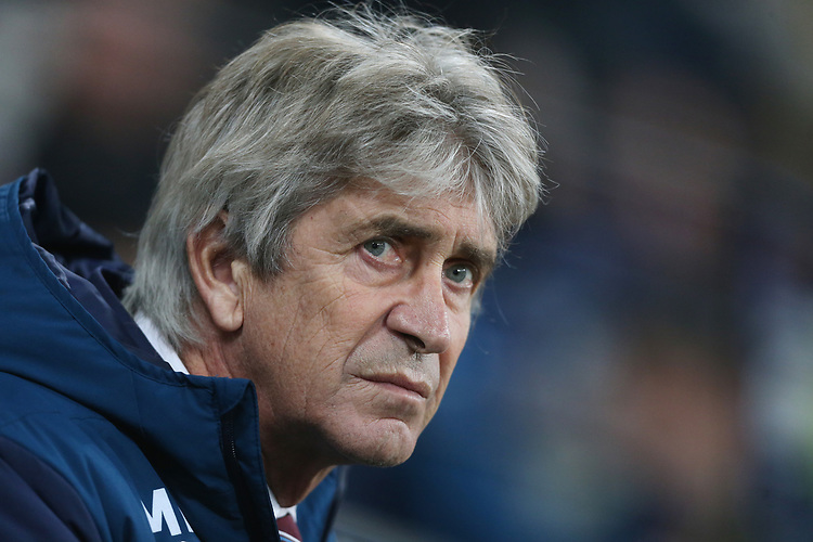West Ham United manager Manuel Pellegrini <br /> <br /> Photographer Rob Newell/CameraSport<br /> <br /> The Premier League - West Ham United v Cardiff City - Tuesday 4th December 2018 - London Stadium - London<br /> <br /> World Copyright © 2018 CameraSport. All rights reserved. 43 Linden Ave. Countesthorpe. Leicester. England. LE8 5PG - Tel: +44 (0) 116 277 4147 - admin@camerasport.com - www.camerasport.com