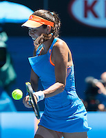 ANA IVANOVIC (SRB)<br /> Tennis - Australian Open - Grand Slam -  Melbourne Park -  2014 -  Melbourne - Australia  - 21st January 2014. <br /> <br /> &copy; AMN IMAGES, 1A.12B Victoria Road, Bellevue Hill, NSW 2023, Australia<br /> Tel - +61 433 754 488<br /> <br /> mike@tennisphotonet.com<br /> www.amnimages.com<br /> <br /> International Tennis Photo Agency - AMN Images