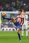 Sergio Alvarez Diaz of Real Sporting de Gijon in action during the La Liga match between Real Madrid and Real Sporting de Gijon at the Santiago Bernabeu Stadium on 26 November 2016 in Madrid, Spain. Photo by Diego Gonzalez Souto / Power Sport Images