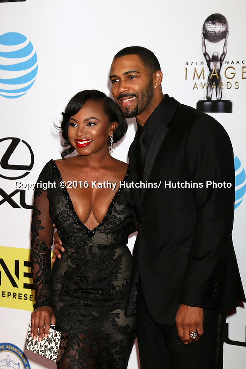 LOS ANGELES - FEB 5:  Naturi Naughton, Omari Hardwick at the 47TH NAACP Image Awards Arrivals at the Pasadena Civic Auditorium on February 5, 2016 in Pasadena, CA