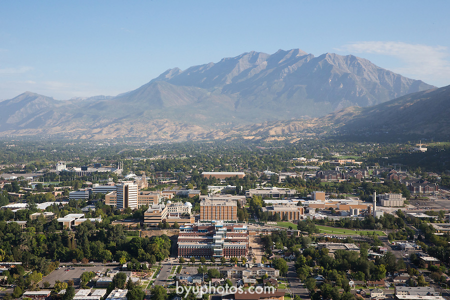 1309-22 1076<br /> <br /> 1309-22 BYU Campus Aerials<br /> <br /> Brigham Young University Campus South looking North, Provo, South Campus,  Mount Timpanogos, Provo Valley<br /> <br /> September 7, 2013<br /> <br /> Photo by Jaren Wilkey/BYU<br /> <br /> &copy; BYU PHOTO 2013<br /> All Rights Reserved<br /> photo@byu.edu  (801)422-7322