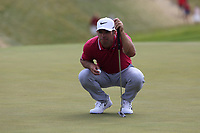 Paul Casey (ENG) on the 8th green during Saturday's Round 3 of the 117th U.S. Open Championship 2017 held at Erin Hills, Erin, Wisconsin, USA. 17th June 2017.<br /> Picture: Eoin Clarke | Golffile<br /> <br /> <br /> All photos usage must carry mandatory copyright credit (&copy; Golffile | Eoin Clarke)
