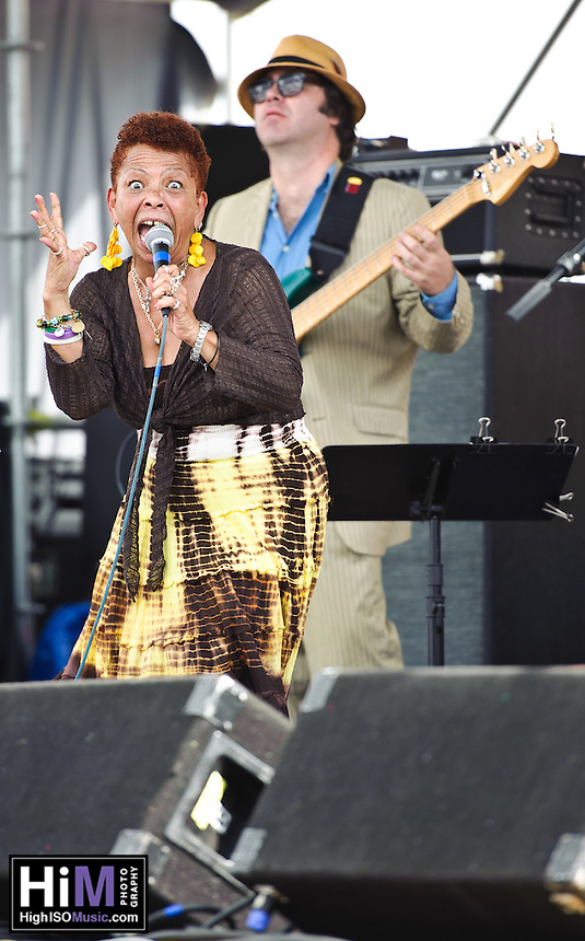 Lillian Boutte and friends play French Quarter Festival 2011.