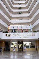 Entrance to the Crowne Plaza hotel in Acapulco, Mexico