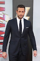 "29 March 2019 - Hollywood, California - Zachary Levi. Warner Bros. Pictures And New Line Cinema's World Premiere Of ""SHAZAM!""  held at TCL Chinese Theatre IMAX. <br /> CAP/ADM/FS<br /> ©FS/ADM/Capital Pictures"