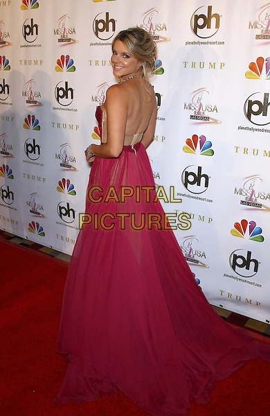 Ali Fedotowsky.2012 Miss USA Pageant red carpet arrivals at Planet Hollywood Resort and Casino, Las Vegas, Nevada, USA..3rd June 2012.full length pink strapless dress looking over shoulder .CAP/ADM/MJT.© MJT/AdMedia/Capital Pictures.