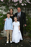 Hugh, Orla, Roisín and Cormac Maher at Termonfeckin NS Communion.  Also Roisíns Birthday today....Photo NEWSFILE/Jenny Matthews.(Photo credit should read Jenny Matthews/NEWSFILE)....This Picture has been sent you under the condtions enclosed by:.Newsfile Ltd..The Studio,.Millmount Abbey,.Drogheda,.Co Meath..Ireland..Tel: +353(0)41-9871240.Fax: +353(0)41-9871260.GSM: +353(0)86-2500958.email: pictures@newsfile.ie.www.newsfile.ie.FTP: 193.120.102.198.