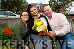Saoirse Murphy at her home in Ashgrove, Ballyvelly who received the Martha Brassil Award from Mercy Mounthawk.<br /> L to r: Lisa Hickey, Saoirse and Paul Murphy.