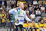 Rhein Neckar Loewe Mikael Appelgren (Nr.1) mit dem Ball beim Spiel in der Handball Bundesliga, Rhein Neckar Loewen - VfL Gummersbach.<br /> <br /> Foto &copy; PIX-Sportfotos *** Foto ist honorarpflichtig! *** Auf Anfrage in hoeherer Qualitaet/Aufloesung. Belegexemplar erbeten. Veroeffentlichung ausschliesslich fuer journalistisch-publizistische Zwecke. For editorial use only.