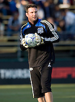22 May 2008:  Joe Cannon of the Earthquakes warm up before the game against the Dynamo at Buck Shaw Stadium in San Jose, California.   San Jose Earthquakes defeated Houston Dynamo, 2-1.