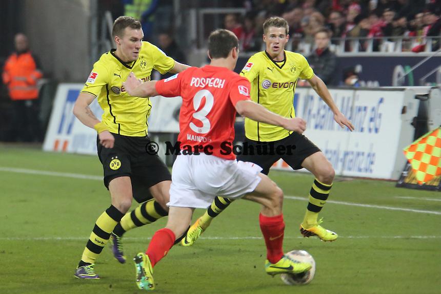 Kevin Großkreutz (BVB) gegen Zdenek Pospech (mainz) - 1. FSV Mainz 05 vs. Borussia Dortmund, Coface Arena, 14. Spieltag