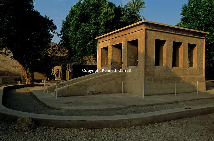 White Chapel, Temple of Jubilee of Senusret I, Egypt; Amun, Horus, Min and Ptah, Karnak, Egypt, Middle Kingdom, demolished New Kingdom