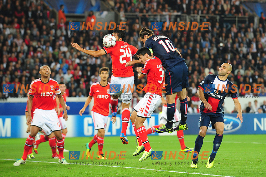 Zlatan Ibrahimovic (psg) Gol <br /> Parigi 2/10/2013 <br /> Football 2013/2014 Champions League<br /> Paris Saint Germain Benfica <br /> JB Autissier Panoramic / Insidefoto <br /> ITALY ONLY