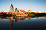 Nashville downtown reflection at sunrise