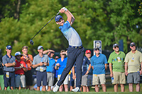 Danny Willett (GBR) watches his tee shot on 12 during 1st round of the 100th PGA Championship at Bellerive Country Cllub, St. Louis, Missouri. 8/9/2018.<br /> Picture: Golffile | Ken Murray<br /> <br /> All photo usage must carry mandatory copyright credit (© Golffile | Ken Murray)