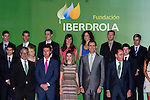 03.07.2012. Princess Letizia of Spain and Prince Felipe of Spain attend Iberdrola Foundation Scholarships 2012 at 'Casa de America' in Madrid. In the image Foundation Iberdrola President Manuel Marin, Spain's Minister of Industry, Energy and Tourism Jose Manuel Soria, Princess Letizia, Prince Felipe and Iberdrola President Ignacio Galan (Alterphotos/Marta Gonzalez)