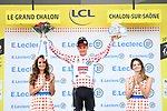 Tim Wellens (BEL) Lotto-Soudal retains the mountains Polka Dot Jersey at the end of Stage 7 of the 2019 Tour de France running 230km from Belfort to Chalon-sur-Saone, France. 12th July 2019.<br /> Picture: ASO/Alex Broadway | Cyclefile<br /> All photos usage must carry mandatory copyright credit (© Cyclefile | ASO/Alex Broadway)