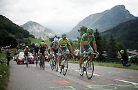 green jersey &amp; world champion Peter Sagan (SVK/Tinkoff) leading the race at the base of the Col de la Ramaz (Cat1/1619m/13.9km/7.1%)<br /> <br /> Stage 20: Meg&egrave;ve &rsaquo; Morzine (146.5km)<br /> 103rd Tour de France 2016