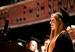 Terryville, CT- 21 June  2017-062117CM11-  Terryville High School graduate Kelsey Turgeon gives the Pledge of Allegiance during commencement exercises in Terryville on Wednesday.  Christopher Massa Republican-American
