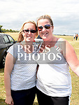 Jenny Bracken and Eireann Courtney pictured at the launch of Laytown United's sticker album at Seafields. Photo:Colin Bell/pressphotos.ie