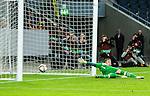 ***BETALBILD***  <br /> Stockholm 2015-07-30 Fotboll Kval Uefa Europa League  AIK - Atromitos FC :  <br /> AIK:s Henok Goitom g&ouml;r 1-2 p&aring; straff under matchen mellan AIK och Atromitos FC <br /> (Foto: Kenta J&ouml;nsson) Nyckelord:  AIK Gnaget Tele2 Arena UEFA Europa League Kval Kvalmatch Atromitos FC Grekland Greece jubel gl&auml;dje lycka glad happy