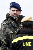 "Prince Felipe of Spain during exercise ""GAMMA PALAZUELOS 2013""."
