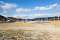 Low lying land in Kesennuma on February 8, 2016, Miyagi Prefecture, Japan. This area used to be occupied by homes and businesses but that changed when the 2011 Tohoku Earthquake and Tsunami struck. As part of the clean up process the  330-ton fishing vessel Kyotoku Maru No. 18 that was swept half a kilometre inland to here was dismantled and removed. (Photo by Rodrigo Reyes Marin/AFLO)