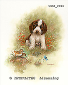 GIORDANO, CHRISTMAS ANIMALS, WEIHNACHTEN TIERE, NAVIDAD ANIMALES, paintings+++++,USGI2094,#XA# dogs,puppies