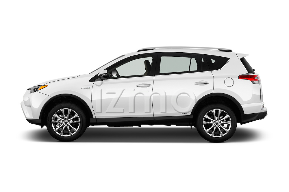 Car Driver side profile view of a 2018 Toyota RAV4 Hybrid-Limited-4x4 5 Door SUV Side View