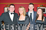 HARRIES BALL: Having a fun time at the North Kerry Harries Hunt Ball at the Meadowlands hotel on Friday l-r: Danny O'Rahilly Knocknagoshel, Ciara Mangan Abbeyfeale, James Walsh Knocknagoshel and Tracey O'Brien Athea..
