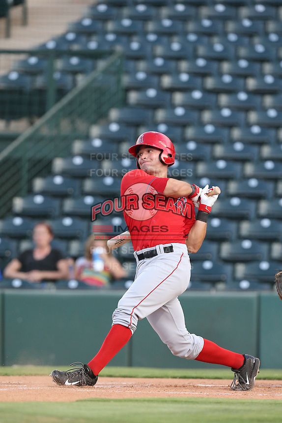 Nick Lynch (24) of the AZL Angels bats during a game against the AZL Giants at Tempe Diablo Stadium on July 6, 2015 in Tempe, Arizona. Angels defeated the Giants, 3-1. (Larry Goren/Four Seam Images)