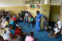 TOGO, Lome, Zentrum DZIDUDU der Organisation BNCE (Bureau National Catholique de l'Enfance) zur Betreuung von Lastentraegerinnen und Marktfrauen und deren Kindern
