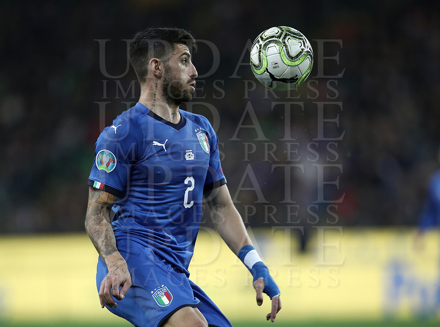 Football: Euro 2020 Group J qualifying football match Italy vs Finland at the Friuli Stadium in Udine on march  23, 2019<br /> Italy's Cristiano Piccini in action during the Euro 2020 qualifying football match between Italy and Finland at the Friuli Stadium in Udine, on march 23, 019<br /> UPDATE IMAGES PRESS/Isabella Bonotto