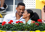 American actor Will Smith (l) and his wife Jada Pinkett during Madrid Open Tennis 2012 ATP-Singles final match.May, 13, 2012(ALTERPHOTOS/ALFAQUI/Acero)