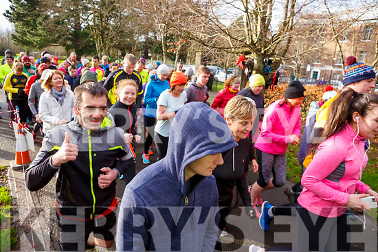 On the starters gun at the Tralee ParkRun on New Years Day.