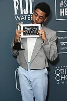 12 January 2020 - Santa Monica, California - Jharrel Jerome. 25th Annual Critici's Choice Awards - Press Room held at Barker Hangar. Photo Credit: Birdie Thompson/AdMedia