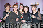 TOASTING: Toasting to a successful evening at the Women MMedia Awards evening in Killcooley House Bar & Restaurant,Ballybunion, on Saturday evening. L-r: Louise Tobin, Ruth McDonnell, Ciara Flaherty, Eileen McCarthy and Mary Flaherty.