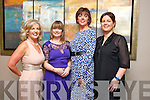 Collette Shortt, Aine McGillicuddy, Bernice Dowling and Sandra O'Sullivan enjoying the Kerins O'Rahilly Social at Ballyroe Heights Hotel on Saturday