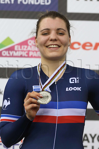 06.03.2016. Lee Valley Velo Centre, Lonodn England. UCI Track Cycling World Championships Womens Womens Omnium.  Laurie Berthon (FRA)  France silver medalist