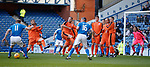 24.3.2018: Rangers legends match:<br /> The wall scatters as Jorg Albertz about to leather the ball